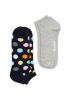 Happy Socks BDO02-9000 2-pack big dot low socks